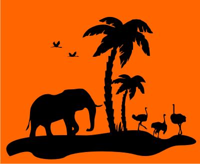 wandtattoo sticker safari elefant afrika indien. Black Bedroom Furniture Sets. Home Design Ideas